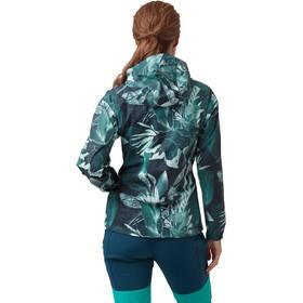 Helly Hansen Loke Jacket Women, midnight green esra print
